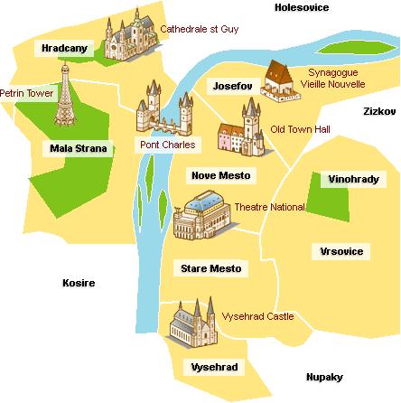 plan prague touristique