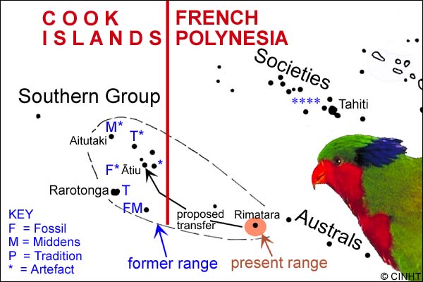 carte iles australes