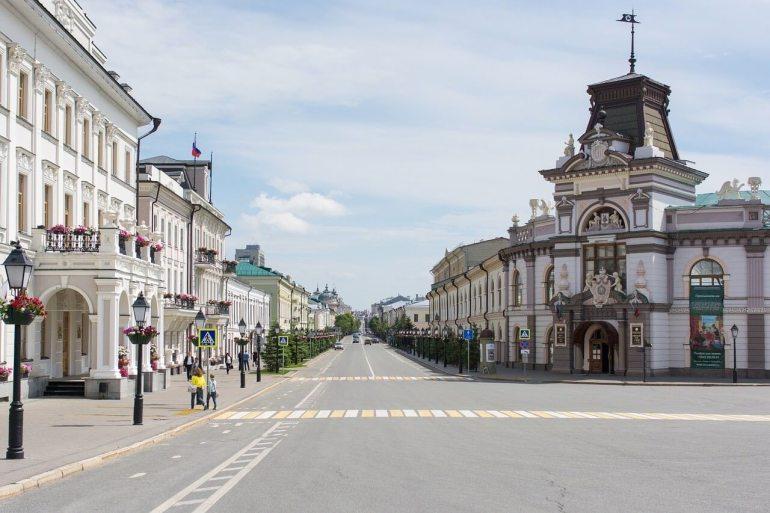 Kazan rue et passage piétons