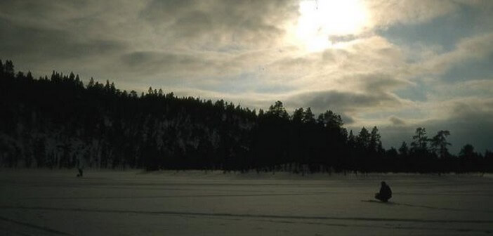 Laponie finlandaise paysage au crépuscule