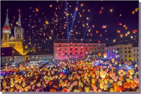 Noel a Zagreb fete des lampions