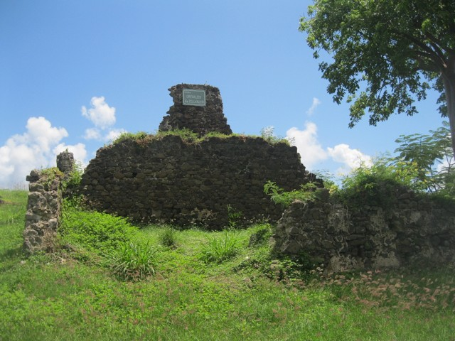 Ruines d'une habitation à Cap Chevalier