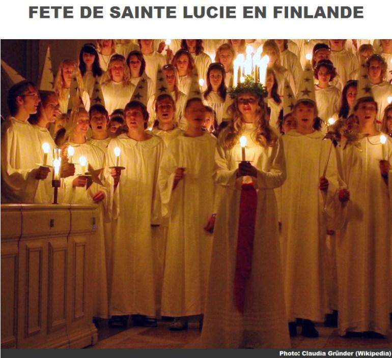 Sainte lucie en Finlande
