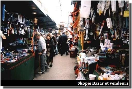 Skopje Bazar vendeurs