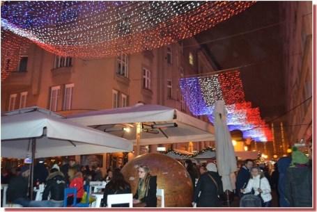 Zagreb decorations de noel dans les rues
