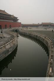 beijing cité interdite dans le brouillard