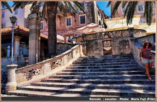 korcula escalier
