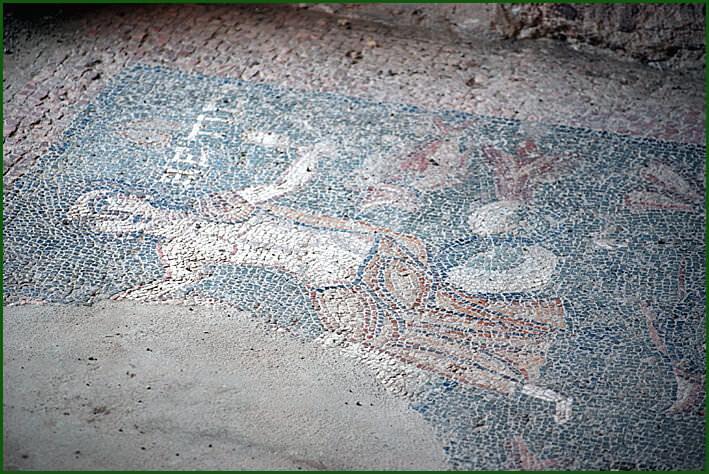 Arménie temple de Garni mosaïque romaine