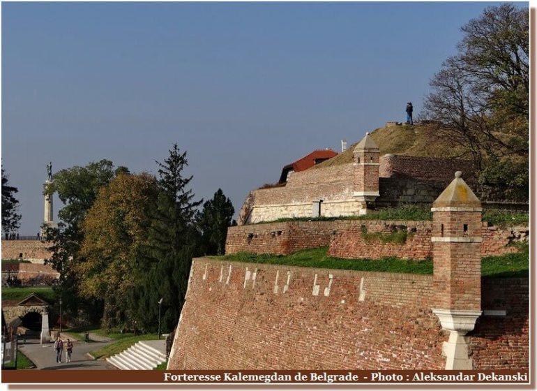 Belgrade rempart de la forteresse Kalemegdan