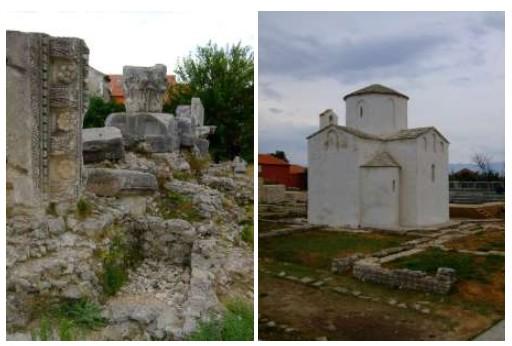 Eglise sainte croix de Nin plus ancienne église paléochrétienne de Croatie