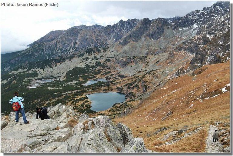 Lacs du parc national des Tatras en Petite pologne dans la région de Zakopane