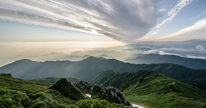 Montagne au japon