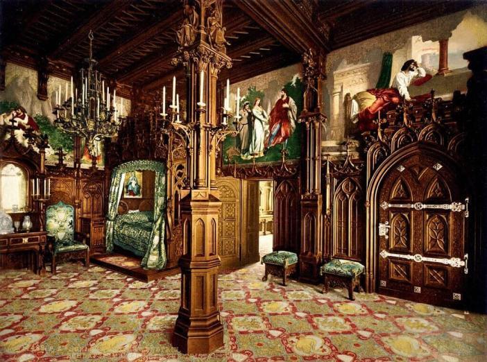Neuschwanstein Chambre royale de Louis II de Bavière