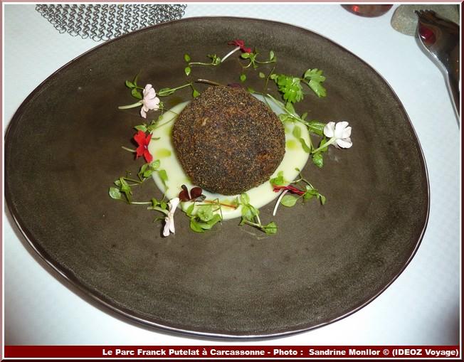 Restaurant Le Parc de Franck Putelat Cromesquis brandade de moreur