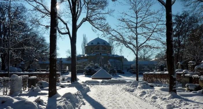Westfriedhof cimetiere de l'ouest à Munich en hiver