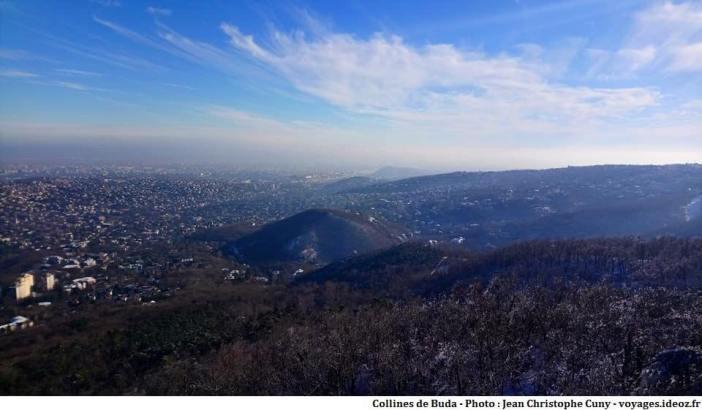 collines de Buda à Budapest en hiver