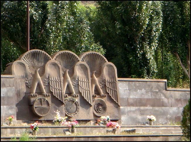 Sissian monument en hommage aux héros du haut Karabagh en Arménie