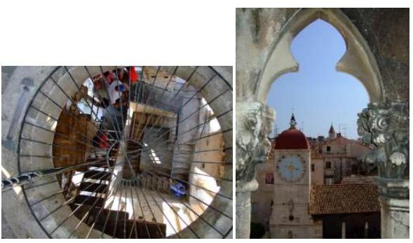 panorama depuis le clocher de la cathédrale Saint Laurent de Trogir