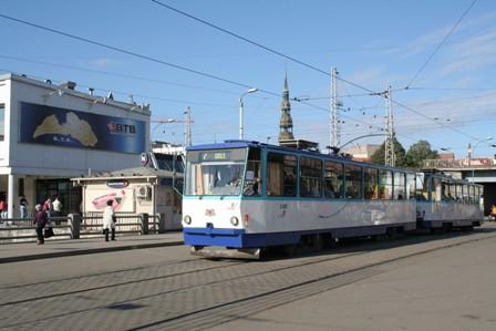 transports en commun riga tramway trolley