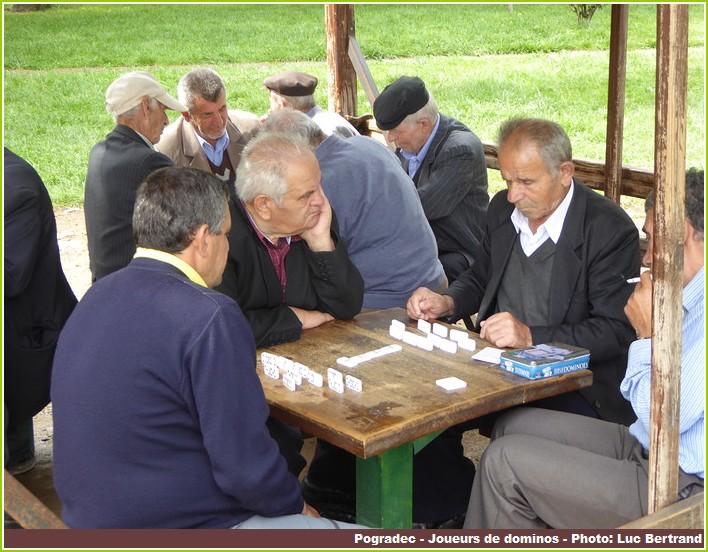 Pogradec joueurs de dominos