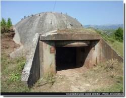 Albanie Gros bunker pour canon antichar