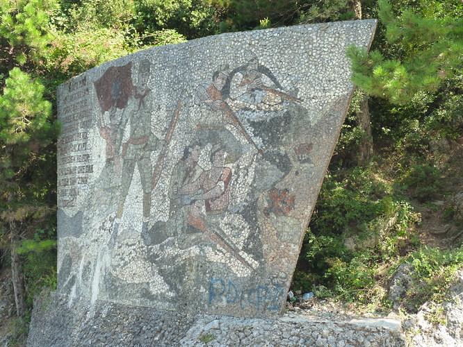 Albanie monument communiste