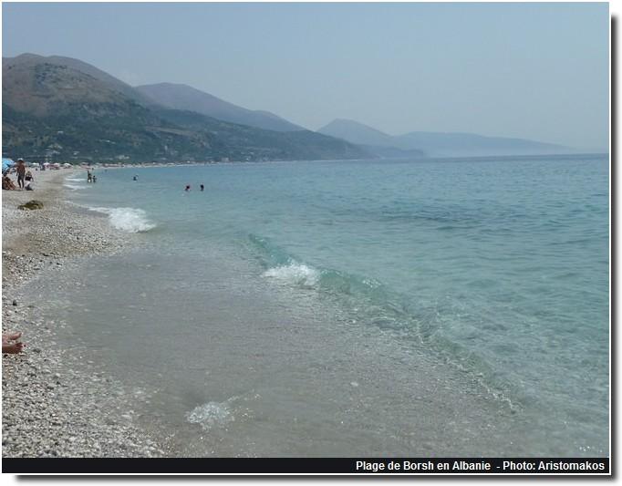 Albanie plage Borsh