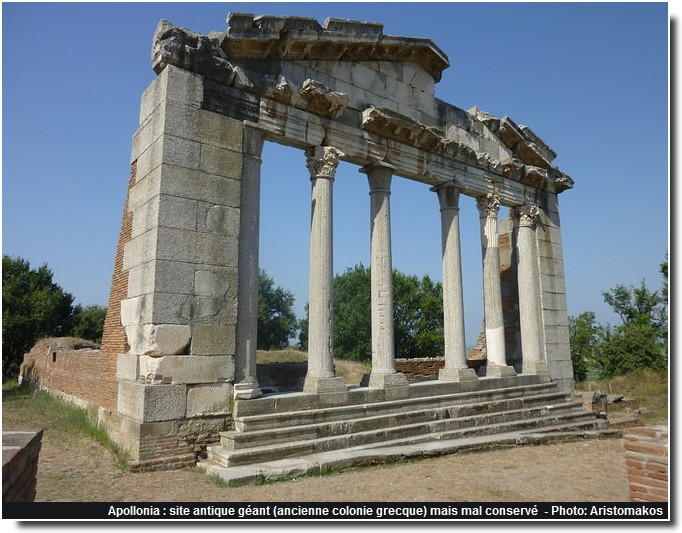 Apollonia  site antique géant Albanie