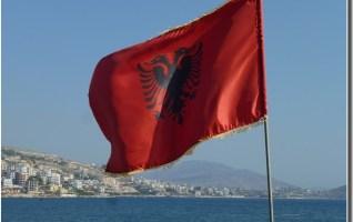 Drapeau Albanie saranda