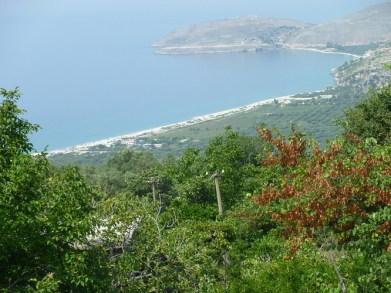 Plage de Borsch en Albanie