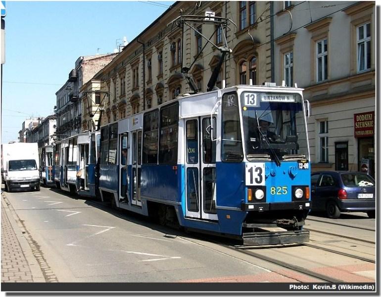 Tramway Krakow transports en commun àCracovie