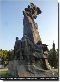 Vlora groupe statuaire nationaliste d'époque communiste