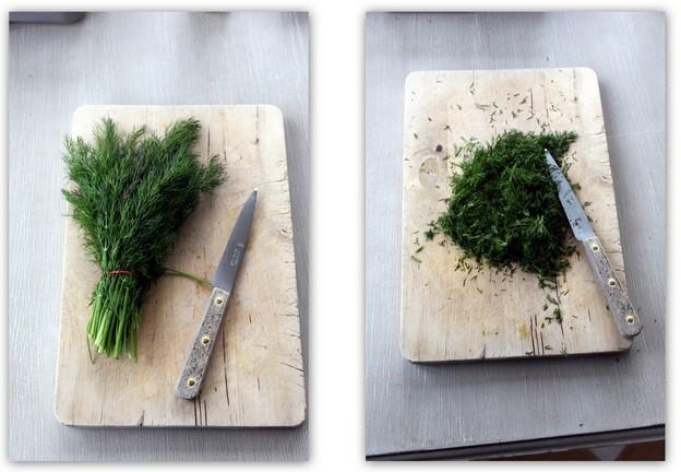 ingredients saumon gravlax