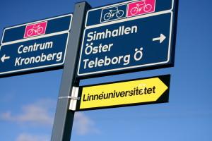vaxjo panneaux piste cyclable
