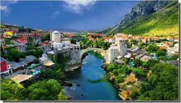Mostar en Bosnie herzégovine