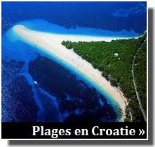 Plages en croatie