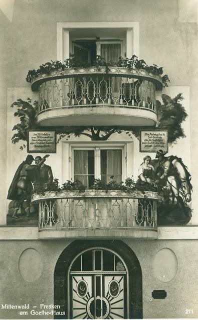 Goethehaus Mittenwald carte postale ancienne