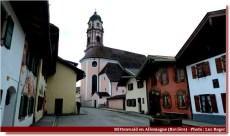 Mittenwald église et rue