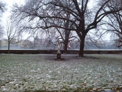 Parc Kampa un jour d'hiver
