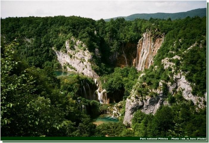 Chute géante Plitvice