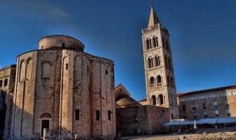 Cathédrale de Zadar en dalmatie du nord