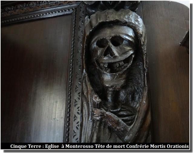 Cinque terre eglise monterosso tete de mort confrerie mortis orationis