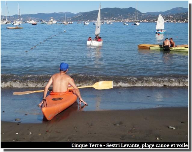 cinque terre canoe plage sestri levante