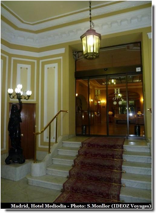 madrid Hotel mediodia Atocha escalier