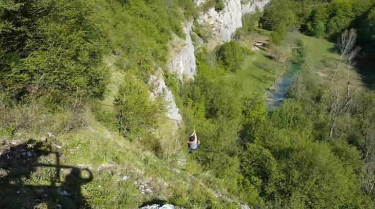 tyrolienne de Plitvice park adrenalin