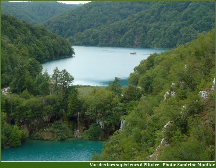 panorama des lacs de Plitvice