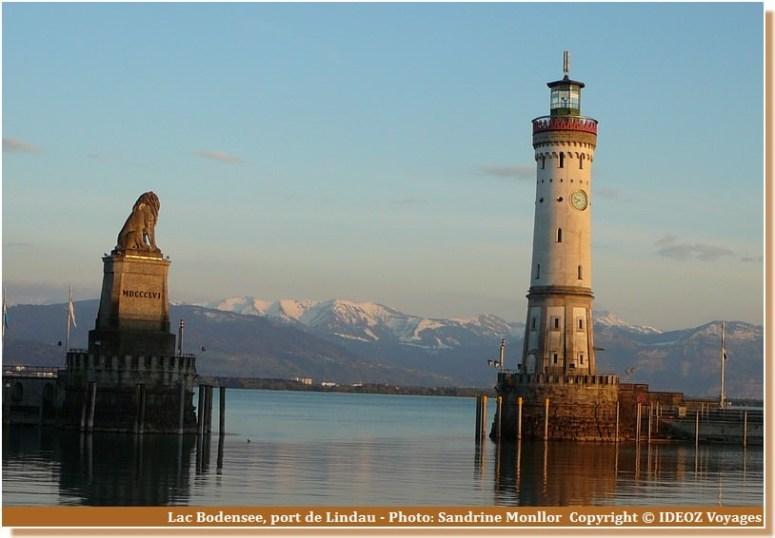 Lindau Lac Bodensee Phare et statue du lion