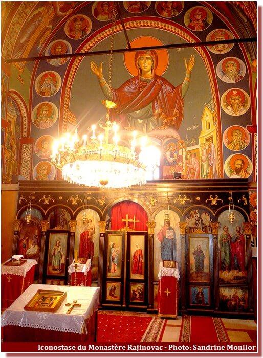 Iconostase monastère Rajinovac