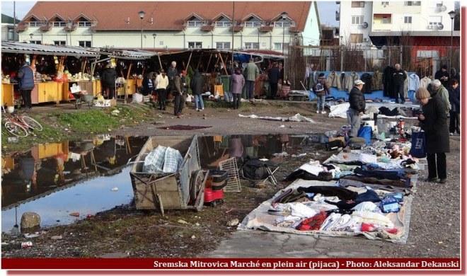 Sremska Mitrovica Pijaca marché en plein air