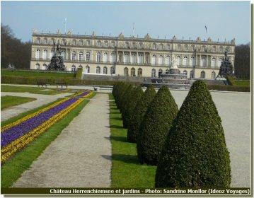 Vue du Chateau Herrenchiemsee de Louis II de Bavière